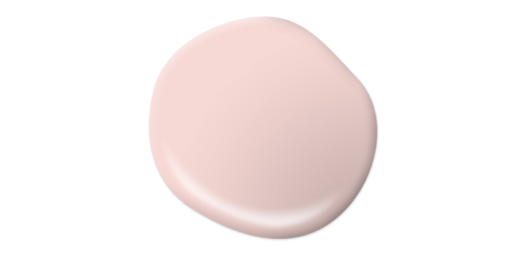 A paint drop representing the color: Cupcake Pink