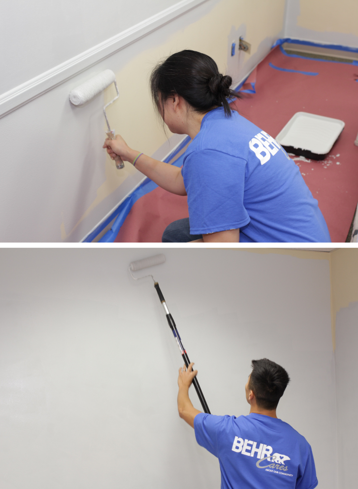 Two people painting seperately