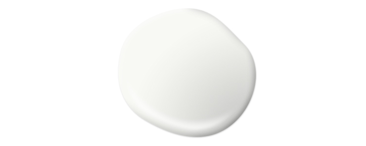 A paint drop to represent the color Ultra Pure White.