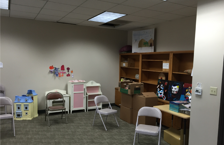 A before shot of the therapy room.