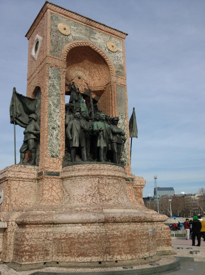 Taksim square monument in Turkey.