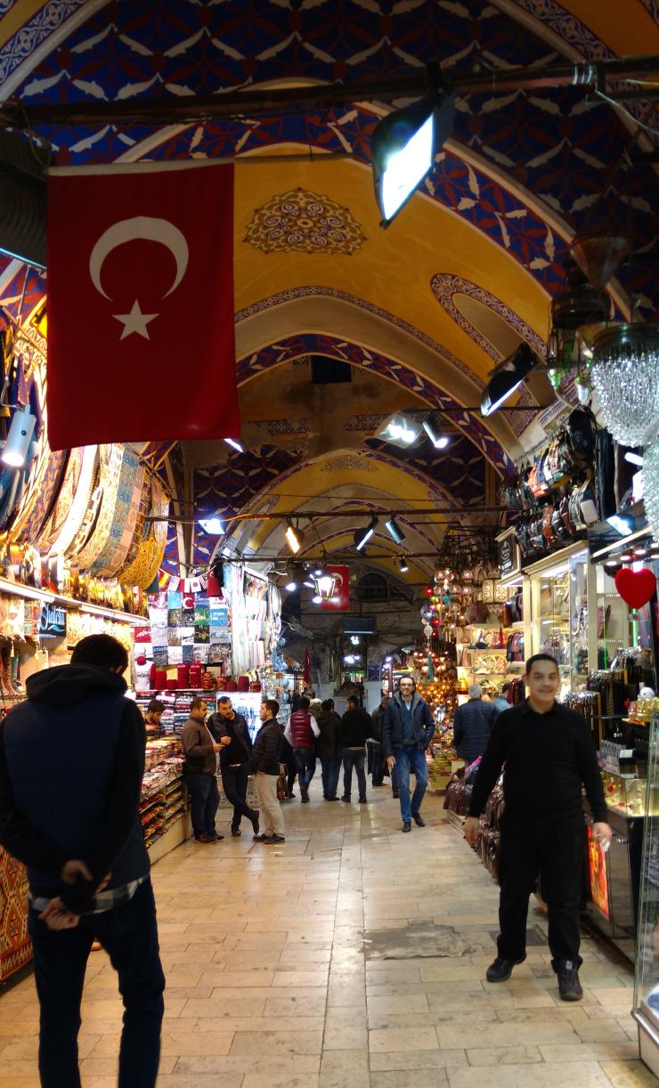 The Grand bazaar in Istanbul.
