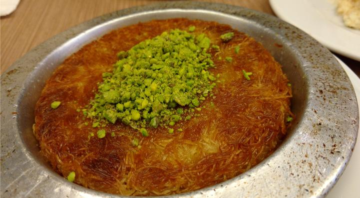 Turkish Kunefe, a traditional dessert.
