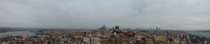 A wide shot of the city scape of Turkey.