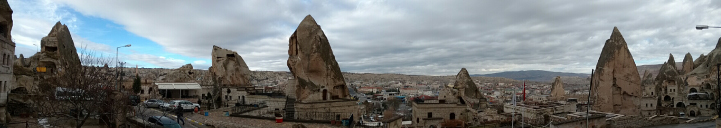 A wide panoramic view of Göreme