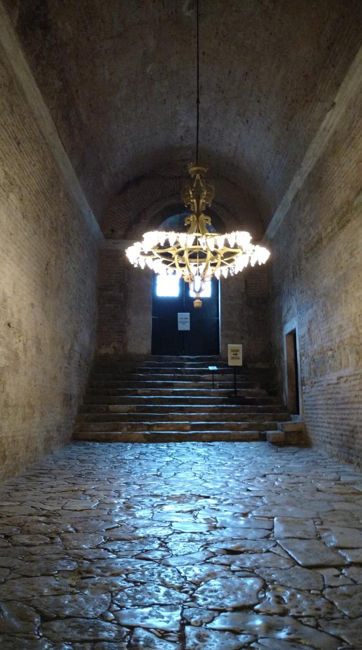 Stone corridors of Hagia Sophia.