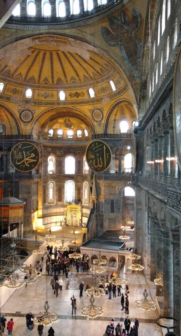 Inside the Sultanahmmet Mosque, another cathedral.
