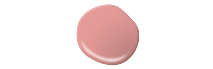 A paint drop representing the color She Loves Pink.