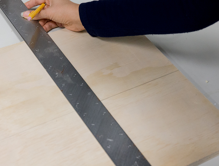 measuring the board