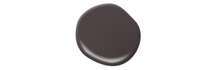A paint drop in the color: Black Garnet.