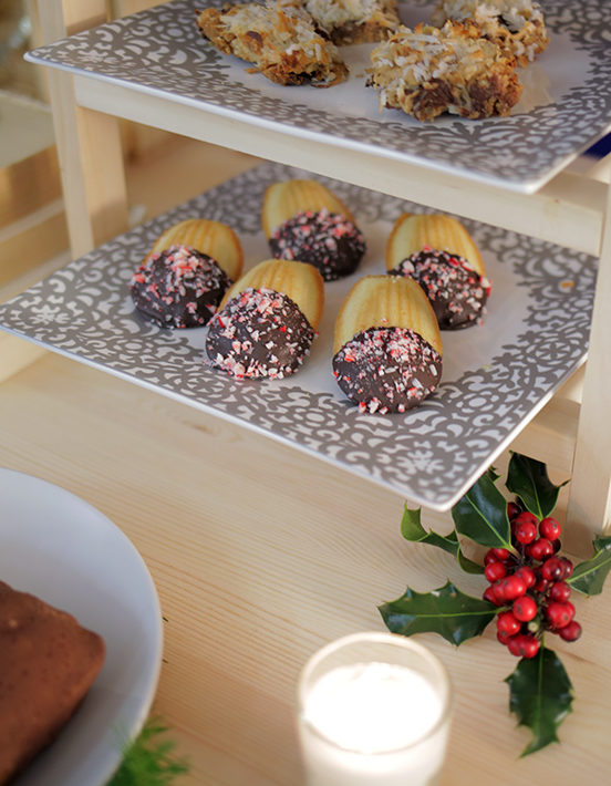 Chocolate Peppermint Madeleines