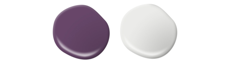 Paint drop in a purple and white color.