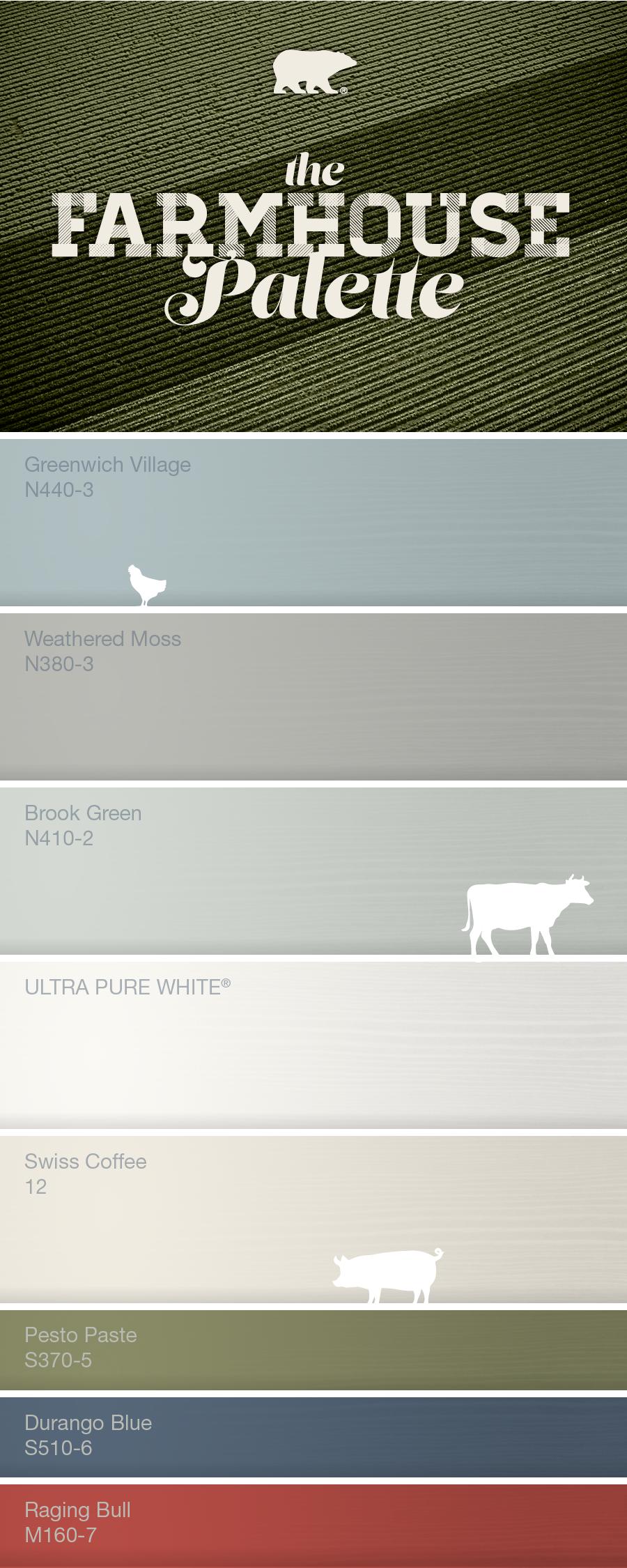 Farmhouse color palette