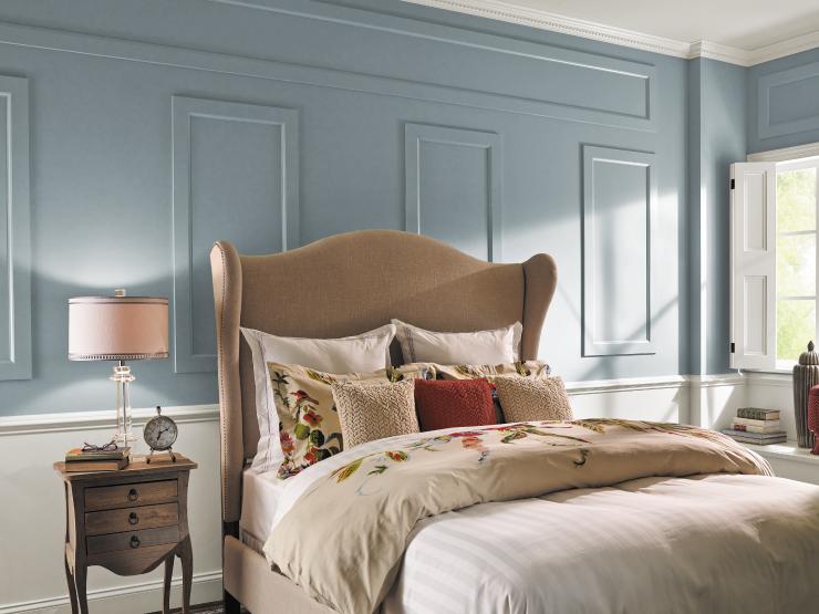 Farmhouse style bedroom.