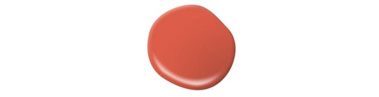 Paint Swatch – A large circle drop showing paint color for Pimento