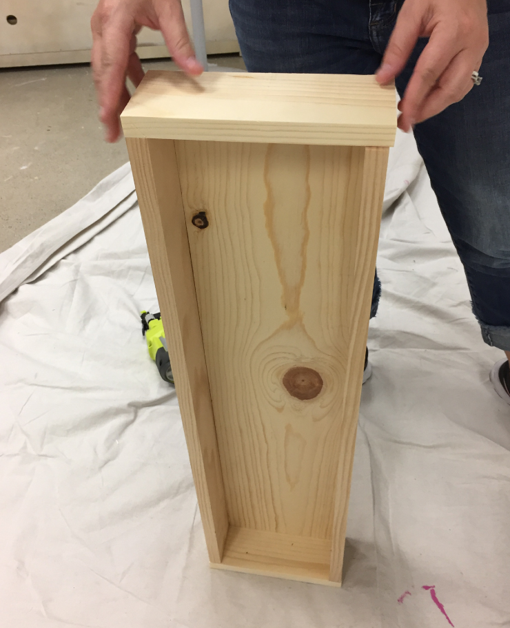 Showing the box assembled.