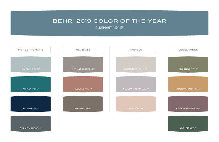 Color Of The Year Blueprint Colorfully Behr