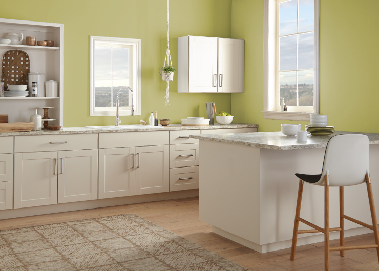 Behr Green Kitchen