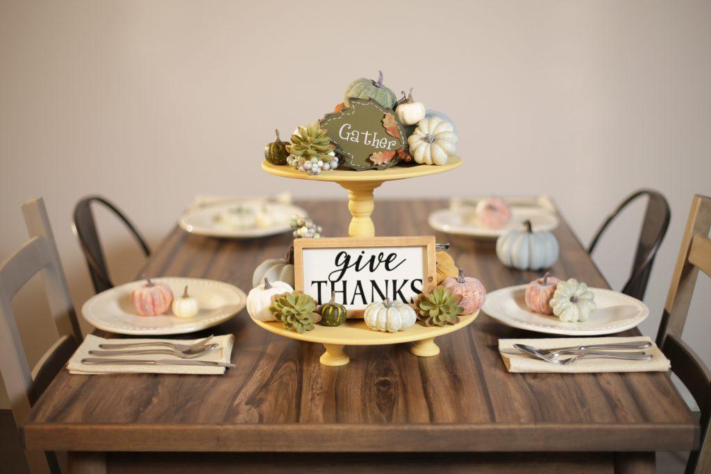 Thanksgiving table center piece.