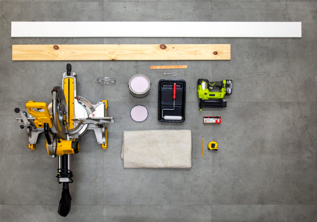 Material and Tools needed for building a headboard.