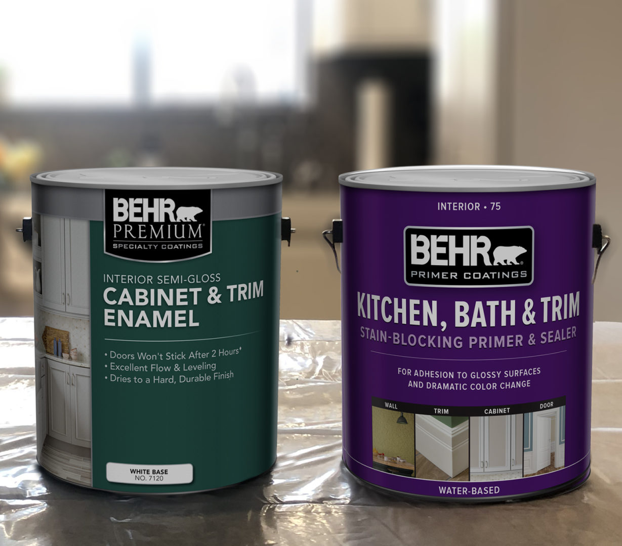 image of paint cans.