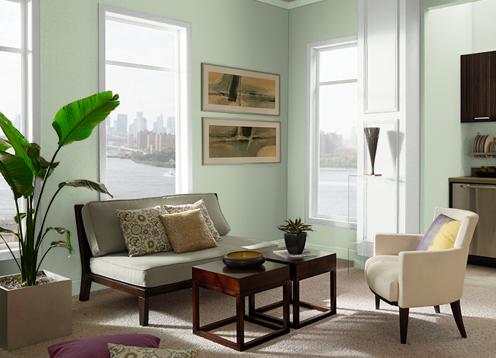 Creamy Spinach S390 3 Behr Paint Colors