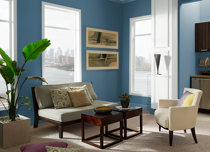 Superior Blue S490 7 Behr Paint Colors