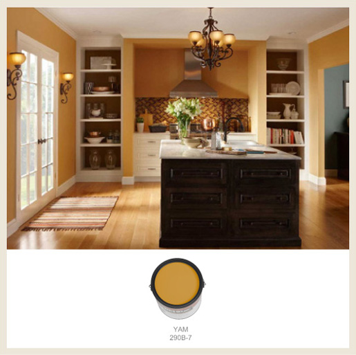 Colorfully Behr Flavor Of The Month Butterscotch