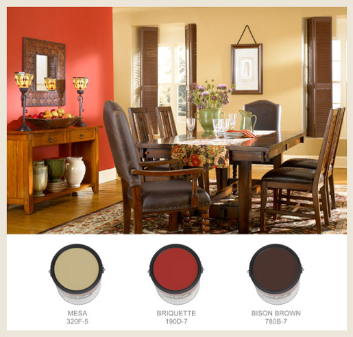 Mood Warm Oak Kitchen Dining Chair With Dark Brown: Colorfully, BEHR :: Arts & Crafts