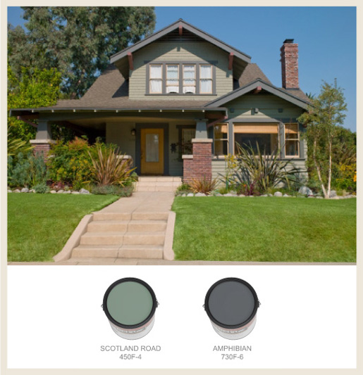 Bungalow Paint Schemes: Colorfully, BEHR :: Arts & Crafts