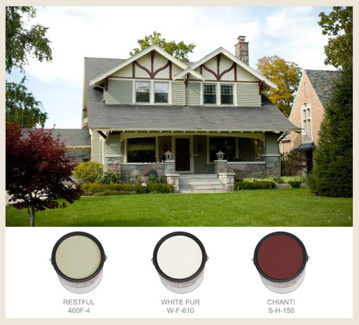 Colorfully behr arts crafts - Behr exterior paint ideas property ...
