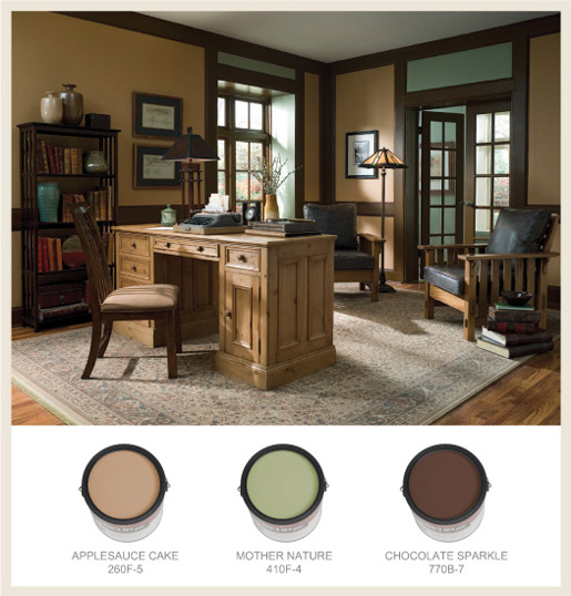 Colorfully behr arts crafts Chocolate colour wall paint