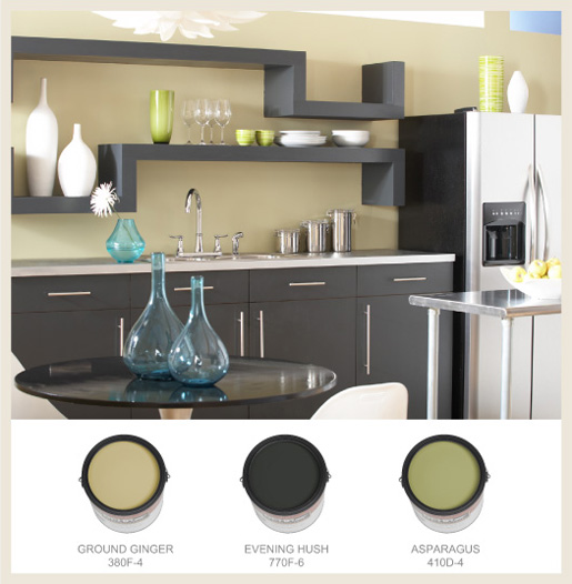 colorfully behr color your kitchen