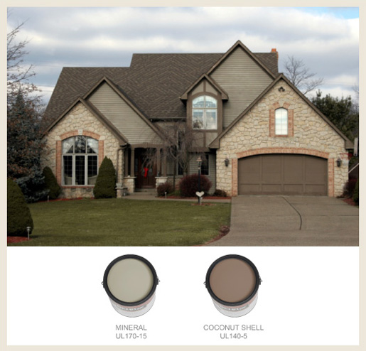 Colorfully behr tudor style - Behr exterior paint ideas property ...