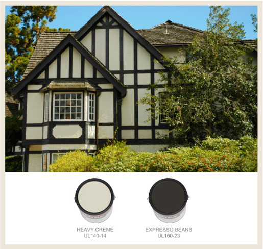 Colorfully behr tudor style - Behr paint colors exterior house property ...