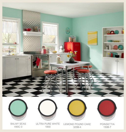Colorfully BEHR 50s Nostalgia
