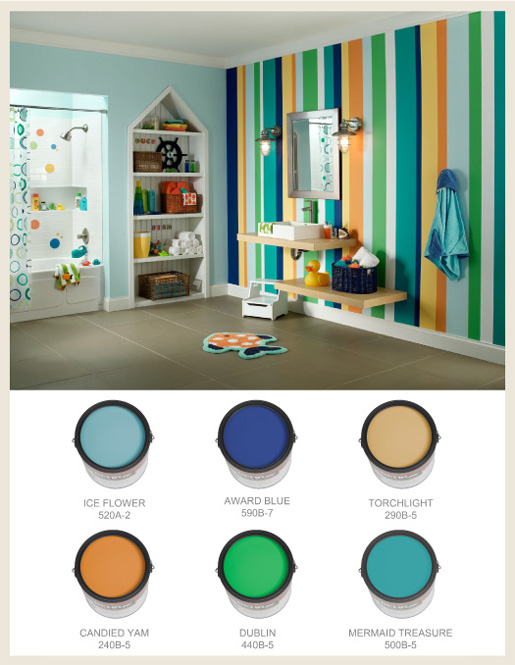 kids bathroom paint colors colorfully behr show your stripes 18975