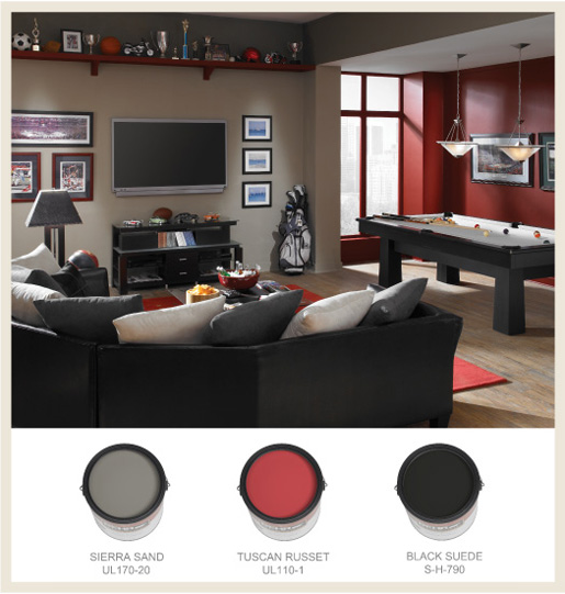 behr garage paint ideas - Colorfully BEHR The Man Cave