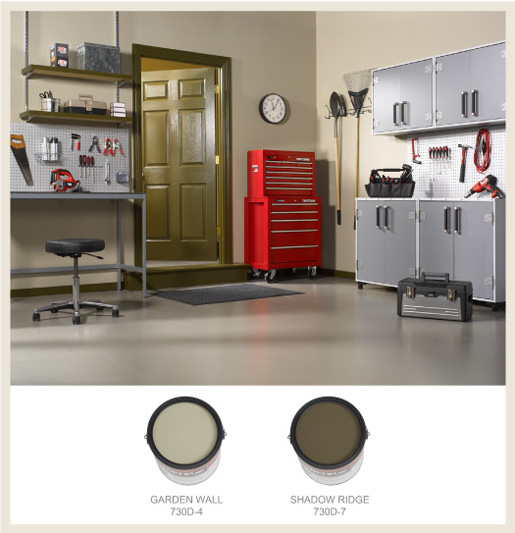 Man Cave Garage Colors : Colorfully behr the man cave