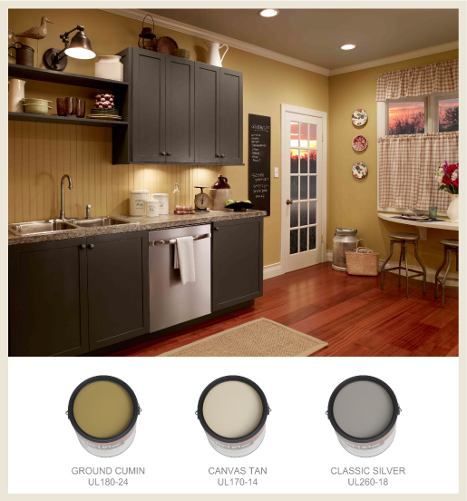 Black Kitchen Cabinets Paint Color: Colorfully, BEHR :: Farmhouse Chic