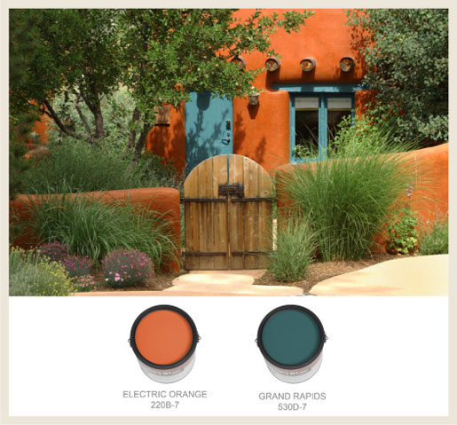 Colorfully Behr Southwestern Style Adobe Homes