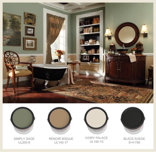 Colorfully Behr Bathroom Color Splendor