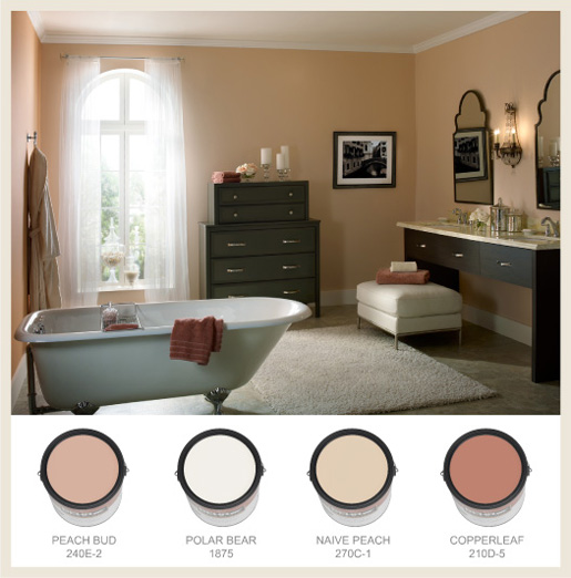 Colorfully behr bathroom color splendor for What goes with taupe