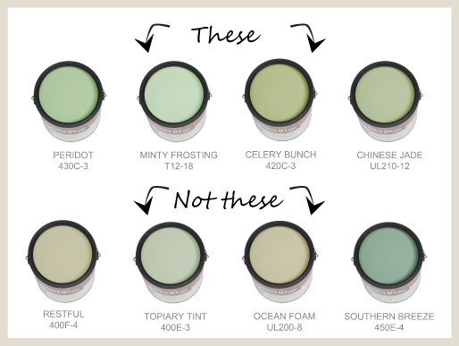 Neutral Green Paint Colors colorfully, behr :: nursery colors to avoid